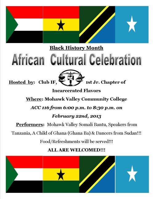 Black History Month African Cultural celebration